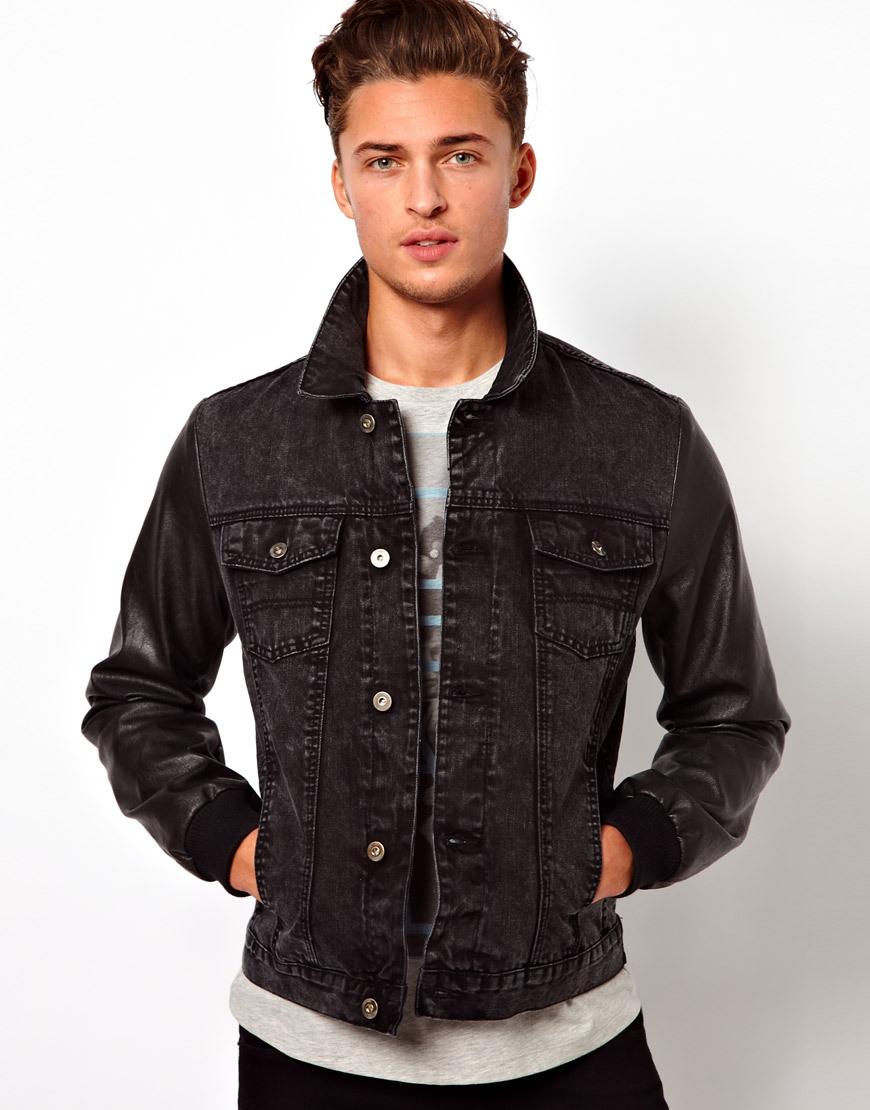 Chaqueta jean negra