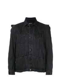 Мужская черная джинсовая куртка от Bmuet(Te)