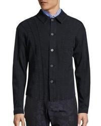 Мужская черная джинсовая куртка от Burberry