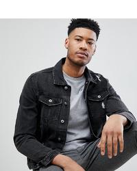 Мужская черная джинсовая куртка от D-struct