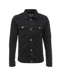 Мужская черная джинсовая куртка от Jack & Jones