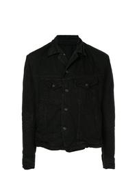 Мужская черная джинсовая куртка от Julius