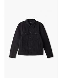 Мужская черная джинсовая куртка от O'stin