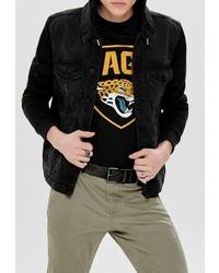 Мужская черная джинсовая куртка от ONLY & SONS