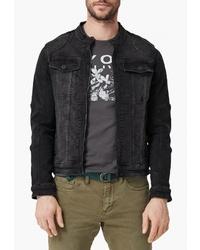 Мужская черная джинсовая куртка от s.Oliver