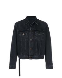 Мужская черная джинсовая куртка от Unravel Project