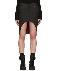 Черная джинсовая мини-юбка