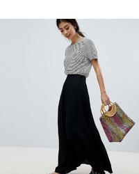 Черная длинная юбка со складками от Asos