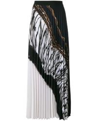 Черная длинная юбка со складками от D-Exterior