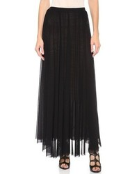 Черная длинная юбка со складками от Jean Paul Gaultier