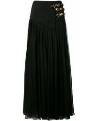 Черная длинная юбка со складками от Lanvin