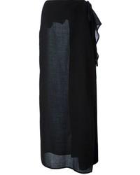 Черная длинная юбка от Gianfranco Ferre