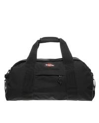 Черная дорожная сумка из плотной ткани