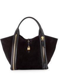 Черная замшевая большая сумка