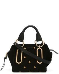 Женская черная замшевая большая сумка от See by Chloe
