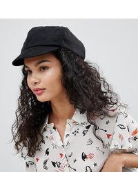 Женская черная замшевая кепка от My Accessories