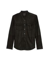 Черная замшевая куртка-рубашка