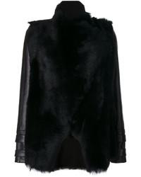 Женская черная замшевая куртка от Plein Sud Jeans