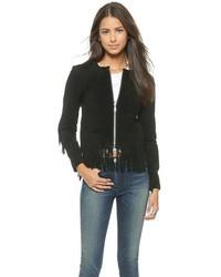 Женская черная замшевая куртка от Rebecca Minkoff