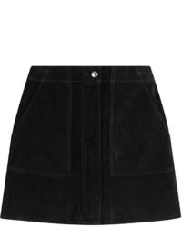 Черная замшевая мини-юбка