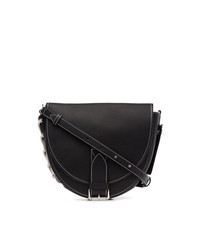 Черная замшевая поясная сумка