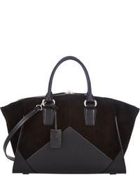 Черная замшевая спортивная сумка