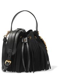 06ca39c38b4d Купить черную сумку-мешок c бахромой - модные модели сумок-мешков ...