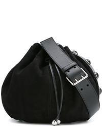 635455ef1e16 Купить черную замшевую сумку-мешок - модные модели сумок-мешков (636 ...