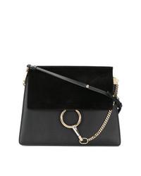 Черная замшевая сумка-саквояж от Chloé