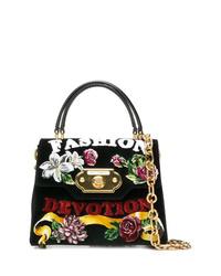 Черная замшевая сумка-саквояж от Dolce & Gabbana