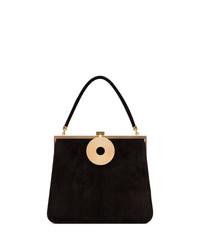 Черная замшевая сумка-саквояж от Dorateymur