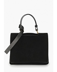 Черная замшевая сумка-саквояж от Marco Bonne`