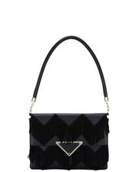 Черная замшевая сумка-саквояж от Sara Battaglia