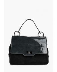 Черная замшевая сумка-саквояж от Vera Victoria Vito