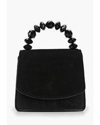 Черная замшевая сумка-саквояж от Violeta BY MANGO