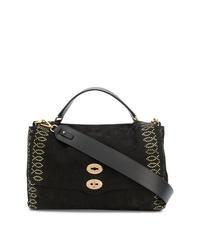 Черная замшевая сумка-саквояж от Zanellato