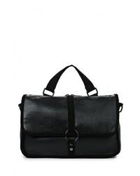 Женская черная замшевая сумка через плечо от Freddy