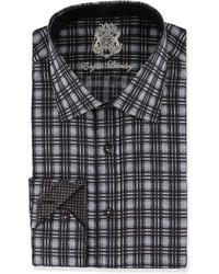 Черная классическая рубашка в шотландскую клетку