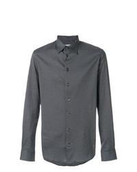 Мужская черная классическая рубашка с принтом от Armani Collezioni