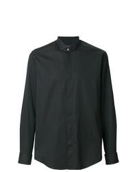 Мужская черная классическая рубашка с принтом от Pal Zileri