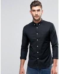 Мужская черная классическая рубашка от Asos