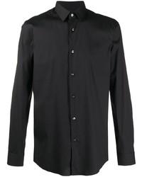 Мужская черная классическая рубашка от BOSS HUGO BOSS