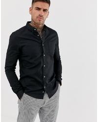 Мужская черная классическая рубашка от Burton Menswear