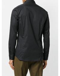 Мужская черная классическая рубашка от Paolo Pecora