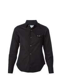 Женская черная классическая рубашка от Comme Des Garcons Play