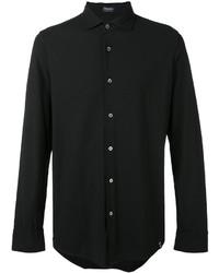 Мужская черная классическая рубашка от Drumohr