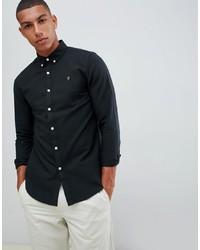 Мужская черная классическая рубашка от Farah