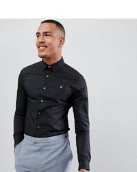 Мужская черная классическая рубашка от Farah Smart