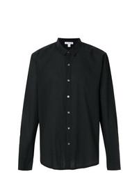 Мужская черная классическая рубашка от James Perse