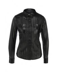 Женская черная классическая рубашка от LOST INK